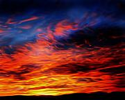View Digital Art - Red Sky At Night by Steve Thorpe