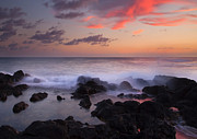 Poipu Prints - Red Sky Paradise Print by Mike  Dawson