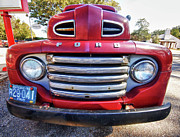 Michael Digital Art Originals - Red Smiling Ford by Michael Thomas
