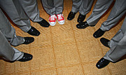 Groomsmen Posters - Red Sneaks Poster by Chet King