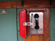 Red Sox Art - Red Sox Dugout Phone by Mike Martin