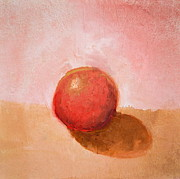 Taupe Prints - Red Sphere Still Life Print by Michelle Calkins