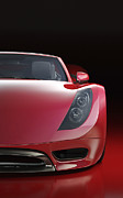 Personal Land Vehicle Prints - Red Sports Car Print by Mark Evans