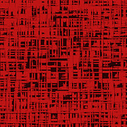 Tiled Digital Art Prints - Red Square Oct31201 Print by Igor Kislev