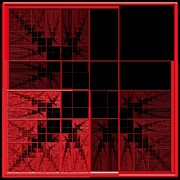 Gt Prints - Red Squares 2 Print by Gt