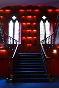 Princes Posters - Red Staircase Poster by Jeff Stein