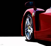 Supercar Digital Art - Red Stallion by Peter Chilelli