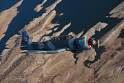 Arial View Photos - Red Stars over Lake Pleasant by Betsy Aguirre