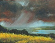 Impressionism Originals - Red Storm by Dennis Kirby