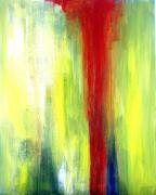 Hope Paintings - Red Streak Alone by Julie Lueders