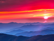 Randall Branham Prints - Red Sunset In The Mountains Print by Randall Branham