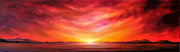 Jan Farthing Art - Red sunset by Jan Farthing