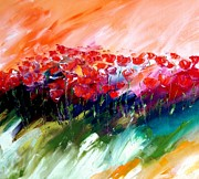 World No. 1 Paintings - Red Symphony by Andreas Wemmje