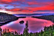 Lake Tahoe Framed Prints - Red Tahoe Framed Print by Scott Mahon