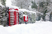Mail Box Framed Prints - Red telephone and post box in the snow Framed Print by Richard Thomas