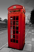 Popping Prints - Red telephone Box Print by Dawn OConnor