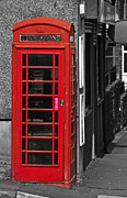 Call Box Posters - Red Telephone Box Poster by Steve Purnell
