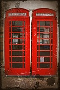 Stephen Clarridge Metal Prints - Red telephone boxes  Metal Print by Stephen Clarridge