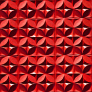Repetition Prints - Red Textured Wall Print by Art Block Collections