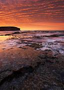 Red Sky Prints - Red Tides Print by Mike  Dawson