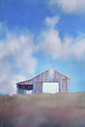 Charming Art - Red Tobacco Barn  by Stephanie Frey