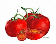 Red Tomatoes Print by Nan Wright