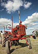 Julie Williams Metal Prints - Red Tractor Metal Print by Julie Williams