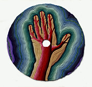 Hand Reliefs - Red Tree by Arla Patch
