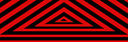 Black And Red Prints - Red Triangle Print by Mike McGlothlen
