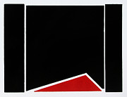 Photographer Drawings Originals - Red Triangle by Scott Shaver