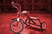 Tricycle Framed Prints - Red Trike Framed Print by Jame Hayes