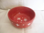 Dinner Ceramics - Red tulip bowl by Monika Hood