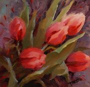 Patti Trostle - Red Tulips Print