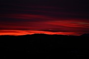 Sunset Greeting Cards Photo Prints - Red Velvet Sky Print by Kevin Bone