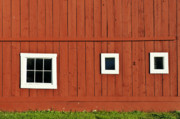 Grafton Vermont Prints - Red Vermont barn.  Print by John Greim