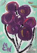 Balloon Drawings - Red Violet Balloons by Mary Carol Williams