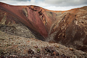 Lanzarote Prints - Red Volcano Crater At Timanfaya National Park Print by © Santiago Urquijo