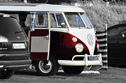 Bus Photos - Red VW Camper by Paul Howarth