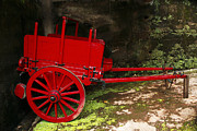Wagon Photos - Red wagon by Gaspar Avila