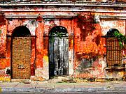 Red Wall By Darian Day Print by Olden Mexico