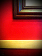 Wall Decoration Framed Prints - Red Wall Framed Print by Eena Bo