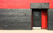 Entrance Door Photo Metal Prints - Red Wall Metal Print by Viktor Savchenko