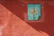 Differences Photo Posters - Red Wall with Shuttered Window Poster by Jeremy Woodhouse