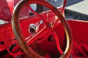 Antic Car Framed Prints - Red wheel Framed Print by David Lee Thompson