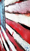 Usa Flag Mixed Media Originals - Red White and Blue by Erik Johnson