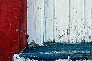 Train Depot Photos - Red White and Blue by Nathan Larson