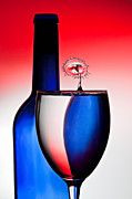 Red White Blue Prints - Red White and Blue Reflections and Refractions Print by Susan Candelario