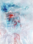 Cage Paintings - Red White and Blue Suet by Pat Spear