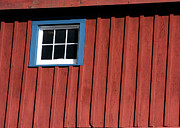 Red Barn. New England Prints - Red White and Blue Window Print by Sabrina L Ryan