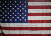 Pledge Prints - Red White and True Print by DigiArt Diaries by Vicky Browning